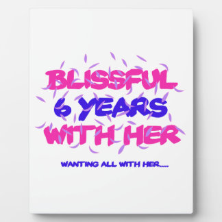 Trending 6th marriage anniversary designs plaque