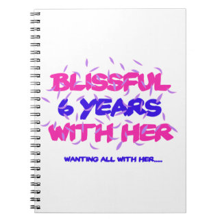Trending 6th marriage anniversary designs spiral notebook