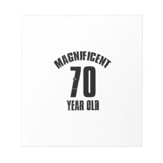 TRENDING 70 YEAR OLD BIRTHDAY DESIGNS NOTEPAD
