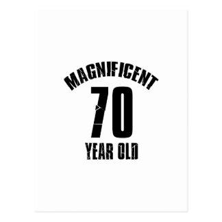 TRENDING 70 YEAR OLD BIRTHDAY DESIGNS POSTCARD