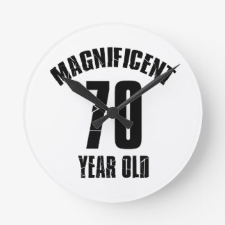 TRENDING 70 YEAR OLD BIRTHDAY DESIGNS ROUND CLOCK
