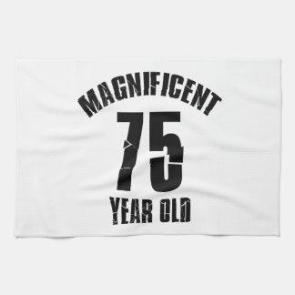 TRENDING 75 YEAR OLD BIRTHDAY DESIGNS KITCHEN TOWEL