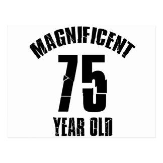 TRENDING 75 YEAR OLD BIRTHDAY DESIGNS POSTCARD