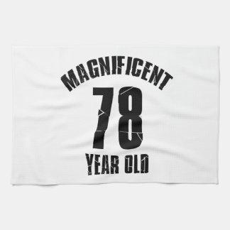TRENDING 78 YEAR OLD BIRTHDAY DESIGNS KITCHEN TOWEL