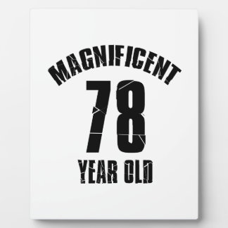 TRENDING 78 YEAR OLD BIRTHDAY DESIGNS PLAQUE