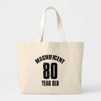TRENDING 80 YEAR OLD BIRTHDAY DESIGNS LARGE TOTE BAG