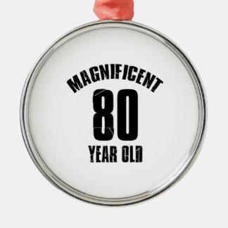 TRENDING 80 YEAR OLD BIRTHDAY DESIGNS METAL ORNAMENT