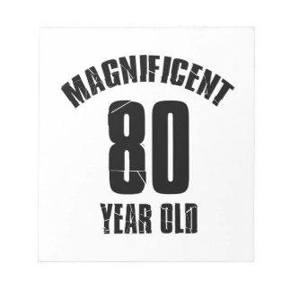 TRENDING 80 YEAR OLD BIRTHDAY DESIGNS NOTEPAD