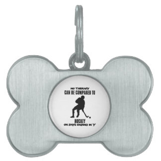 Trending and awesome Hockey designs Pet Tag