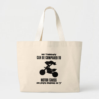 Trending and awesome Motor Crossing designs Large Tote Bag