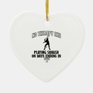 Trending and awesome Squash designs Ceramic Heart Ornament