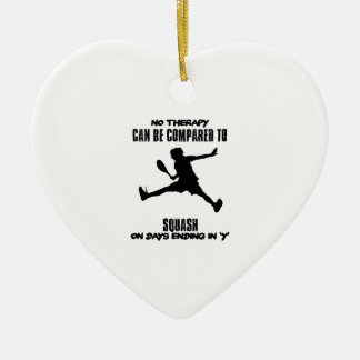 Trending and awesome Squash designs Ceramic Ornament