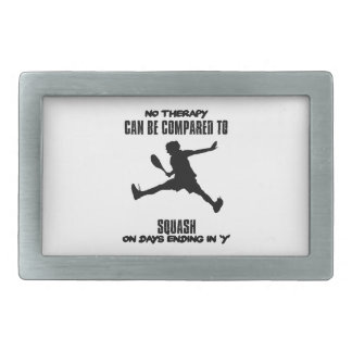 Trending and awesome Squash designs Rectangular Belt Buckle