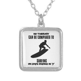 Trending and awesome Surfing designs Silver Plated Necklace