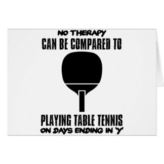 Trending and awesome Table Tennis designs Card