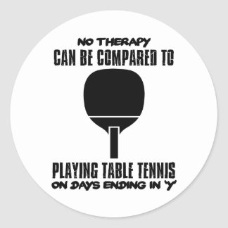 Trending and awesome Table Tennis designs Classic Round Sticker