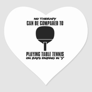 Trending and awesome Table Tennis designs Heart Sticker