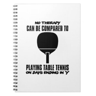 Trending and awesome Table Tennis designs Notebook