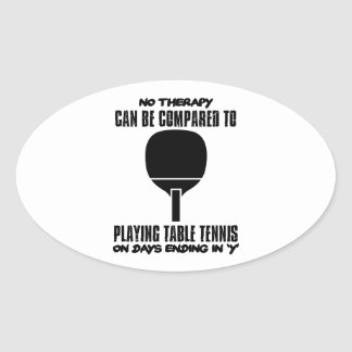 Trending and awesome Table Tennis designs Oval Sticker