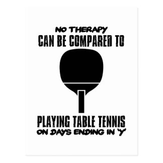 Trending and awesome Table Tennis designs Postcard