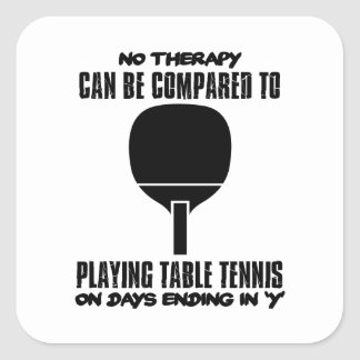 Trending and awesome Table Tennis designs Square Sticker