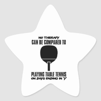 Trending and awesome Table Tennis designs Star Sticker