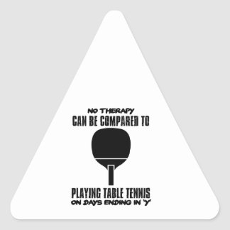 Trending and awesome Table Tennis designs Triangle Sticker