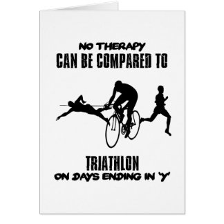 Trending and awesome TRIATHLON designs Card