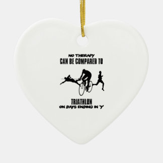 Trending and awesome TRIATHLON designs Ceramic Ornament