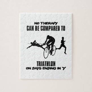 Trending and awesome TRIATHLON designs Jigsaw Puzzle