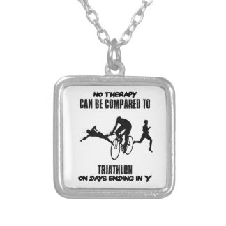 Trending and awesome TRIATHLON designs Silver Plated Necklace