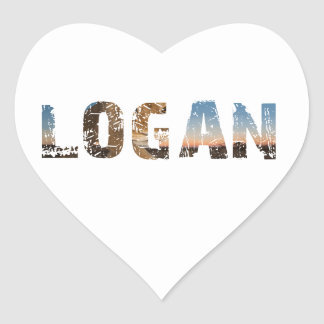 TRENDING and cool Logan name designs Heart Sticker