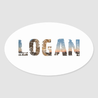 TRENDING and cool Logan name designs Oval Sticker