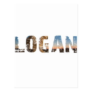 TRENDING and cool Logan name designs Postcard