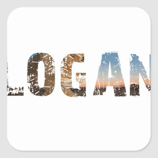 TRENDING and cool Logan name designs Square Sticker