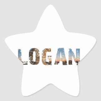 TRENDING and cool Logan name designs Star Sticker