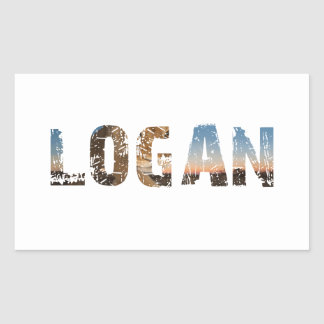 TRENDING and cool Logan name designs Sticker