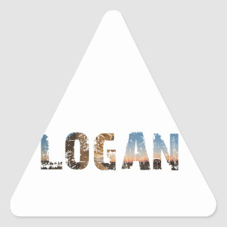 TRENDING and cool Logan name designs Triangle Sticker