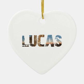 TRENDING and cool Lucas name designs Ceramic Ornament