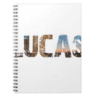 TRENDING and cool Lucas name designs Notebook
