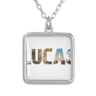 TRENDING and cool Lucas name designs Silver Plated Necklace