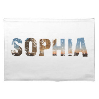 TRENDING and cool Sophia name designs Placemat