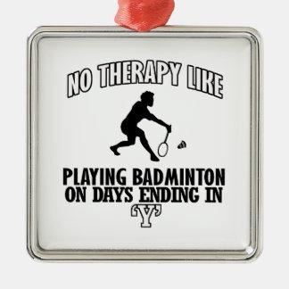 Trending Badminton designs Metal Ornament