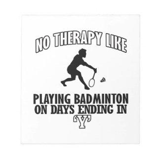 Trending Badminton designs Notepad