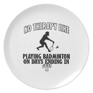 Trending Badminton designs Plate