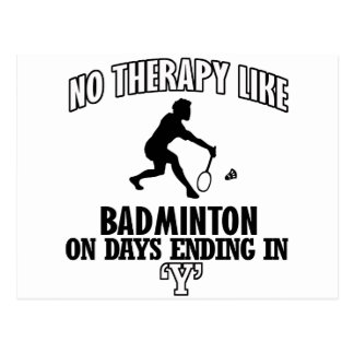 Trending Badminton designs Postcard