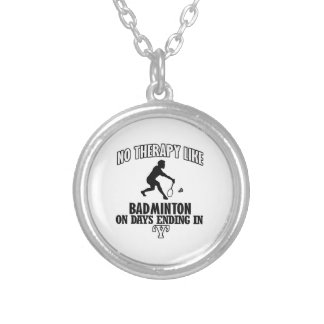 Trending Badminton designs Silver Plated Necklace