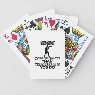 Trending Boxing DESIGNS Bicycle Playing Cards