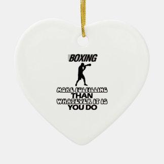 Trending Boxing DESIGNS Ceramic Heart Ornament