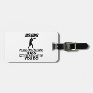 Trending Boxing DESIGNS Luggage Tag